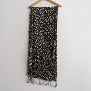 Ashley Cooper Black and Tan Polka Dot Scarf
